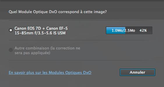 module optique dxo