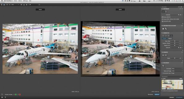 Interface DxO ViewPoint 2