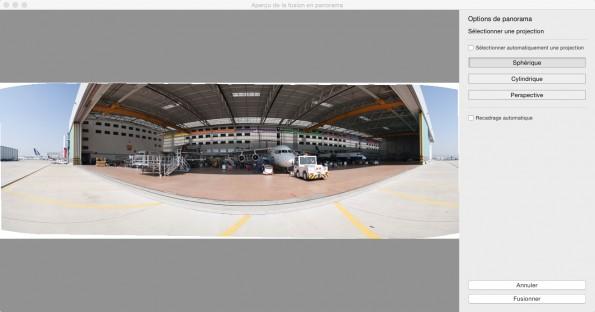Assemblage de panorama à partir de 12 photos