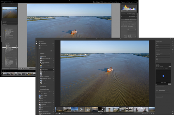 Lightroom Classic 7.5 et Lightroom CC 1.5